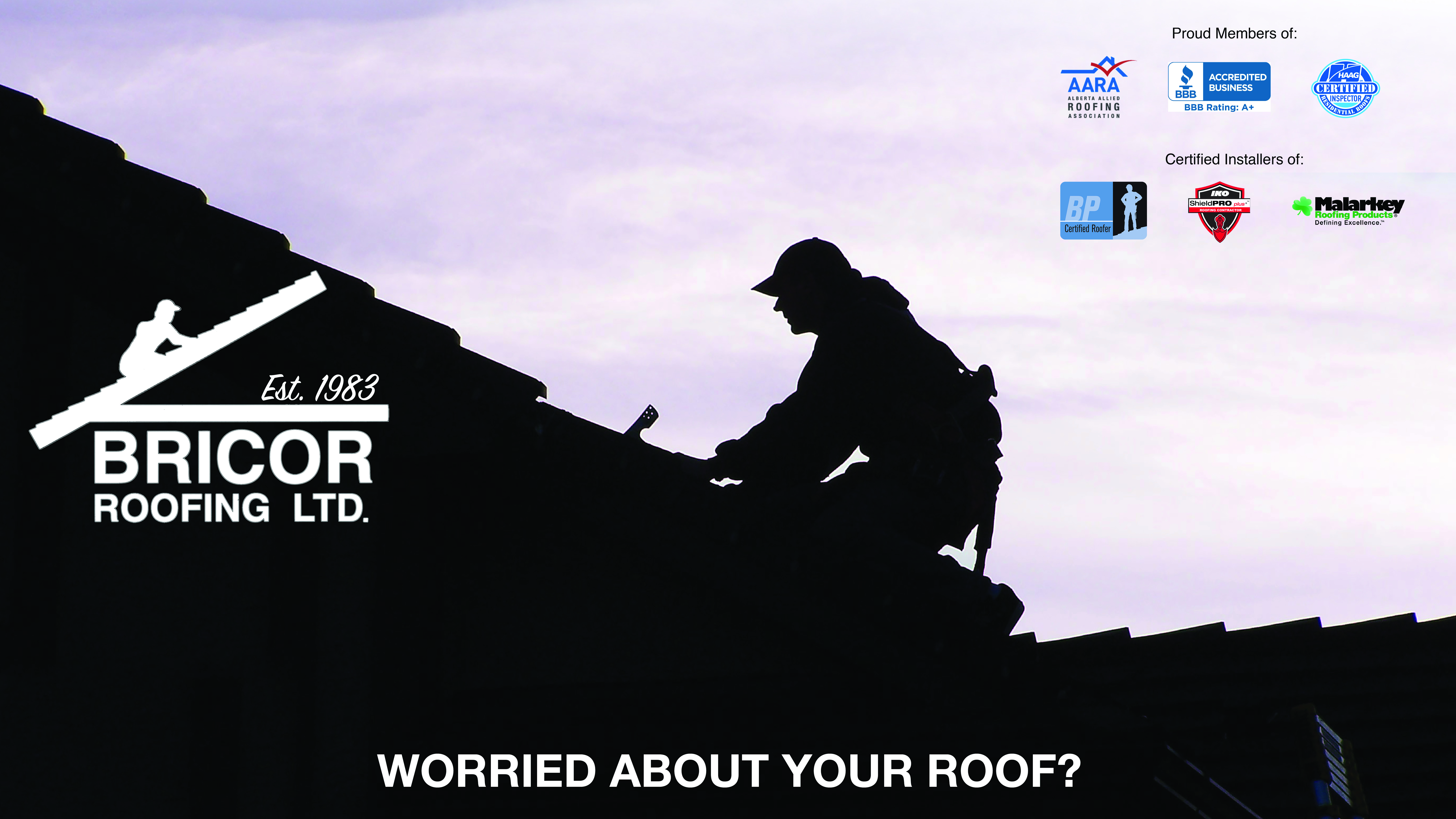 Bricor Roofing Logo and Banner